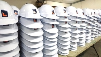 Pad Printed Hard Hats